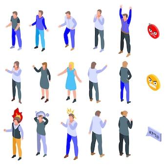 Conjunto de ícones de raiva