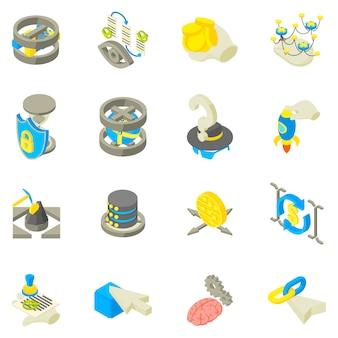 Conjunto de ícones de recuperação de dados