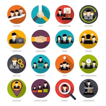 Conjunto de ícones de recursos humanos