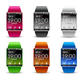 Conjunto de ícones de relógio inteligente