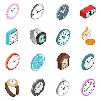 Conjunto de ícones de relógios