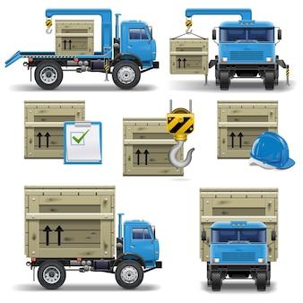 Conjunto de ícones de remessa de vetores 7