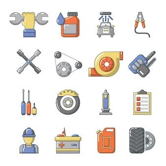 Conjunto de ícones de reparação auto