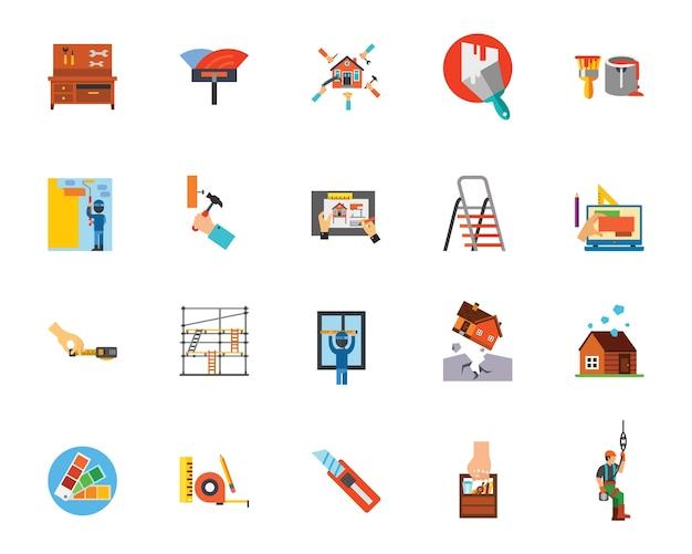 Conjunto de ícones de reparo