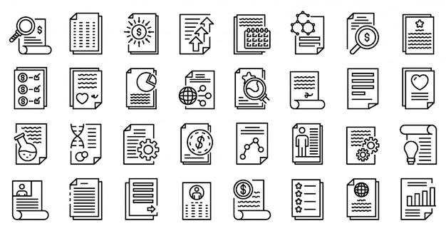 Conjunto de ícones de repórter