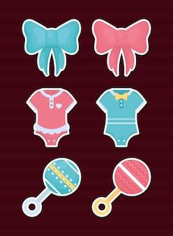 Conjunto de ícones de revelação de gênero