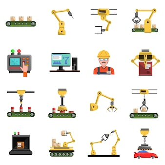Conjunto de ícones de robô