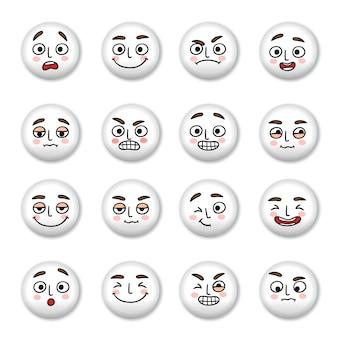 Conjunto de ícones de rostos sorridentes
