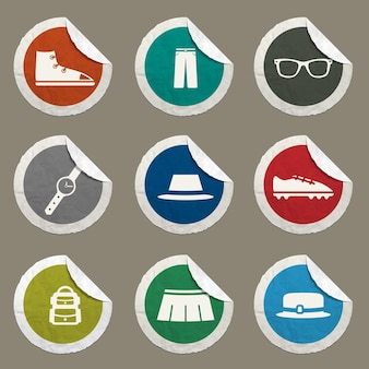 Conjunto de ícones de roupas para sites e interface do usuário