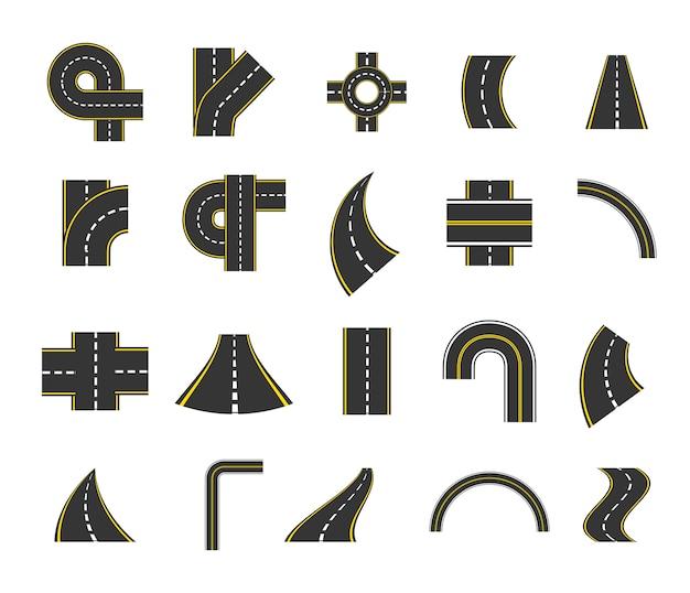 Conjunto de ícones de rua isolado
