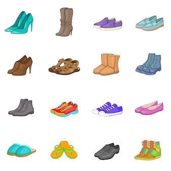 Conjunto de ícones de sapato