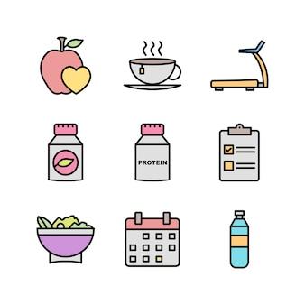 Conjunto de ícones de saúde