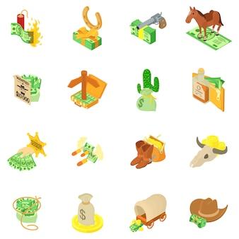 Conjunto de ícones de segurança de dinheiro