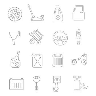 Conjunto de ícones de serviço de auto