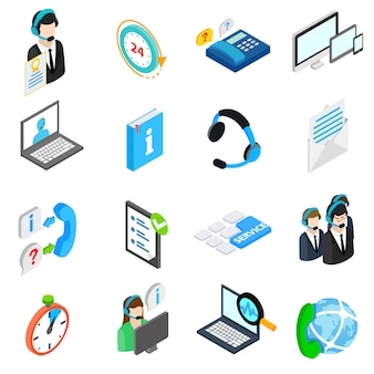 Conjunto de ícones de serviço de computador