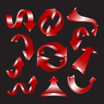 Conjunto de ícones de seta