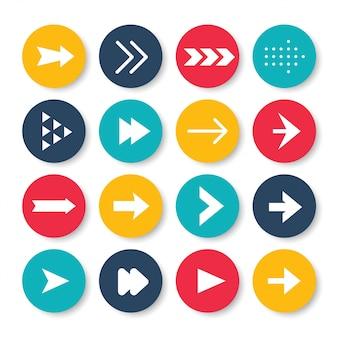 Conjunto de ícones de setas.
