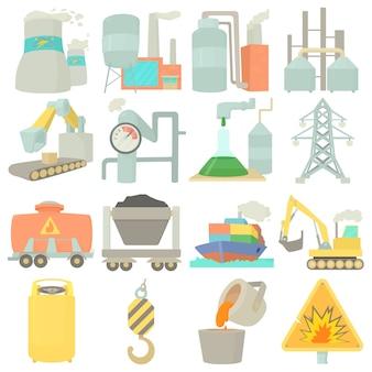 Conjunto de ícones de símbolos industriais