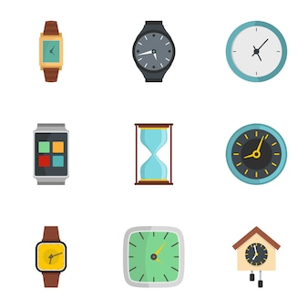 Conjunto de ícones de sinal de sincronização, estilo simples