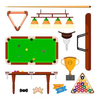 Conjunto de ícones de snooker