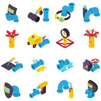 Conjunto de ícones de solda