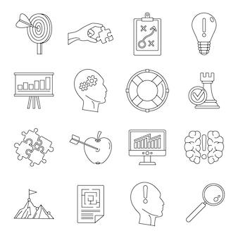 Conjunto de ícones de solução de problemas