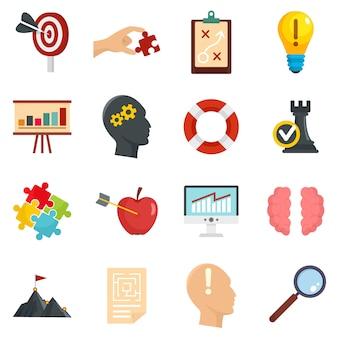 Conjunto de ícones de solução