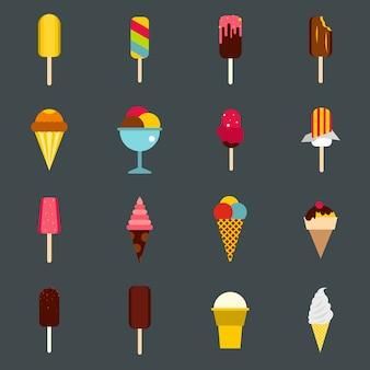 Conjunto de ícones de sorvete