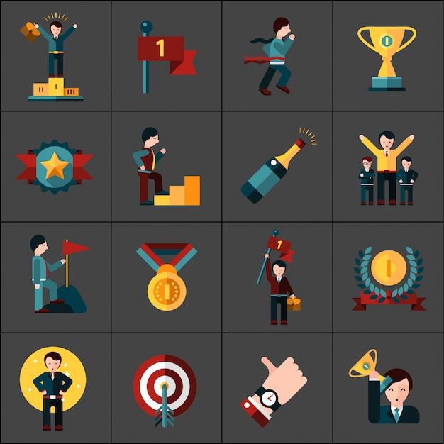 Conjunto de ícones de sucesso