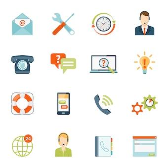 Conjunto de ícones de suporte ao cliente