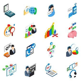 Conjunto de ícones de suporte de serviço