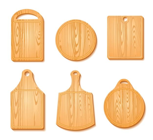 Conjunto de ícones de tábua de corte