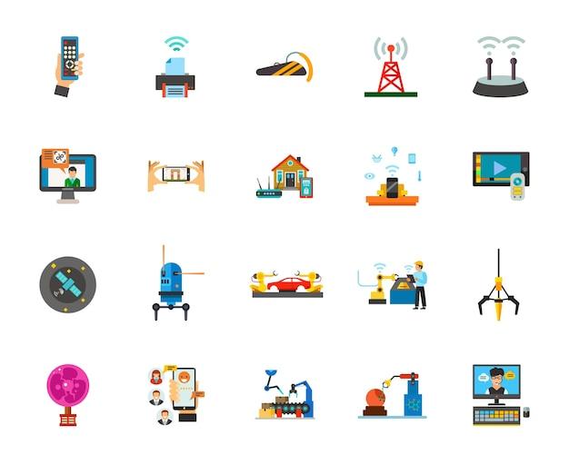 Conjunto de ícones de tecnologia