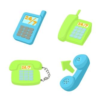 Conjunto de ícones de telefone