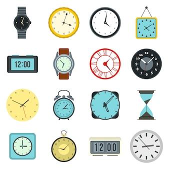 Conjunto de ícones de tempo e relógio