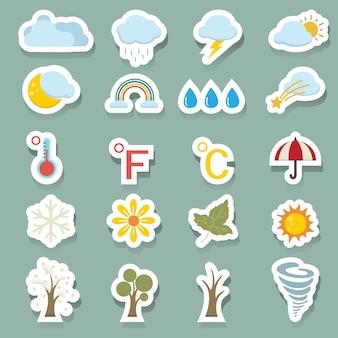 Conjunto de ícones de temporada