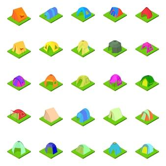 Conjunto de ícones de tenda