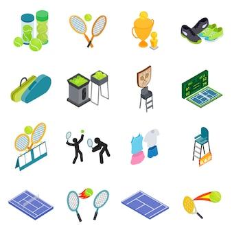 Conjunto de ícones de tênis