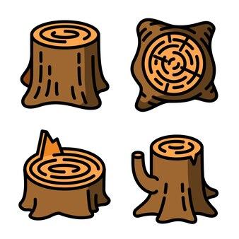 Conjunto de ícones de tocos