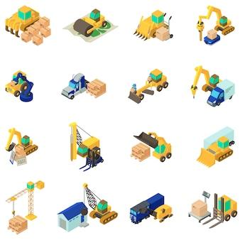 Conjunto de ícones de trabalho de renovação