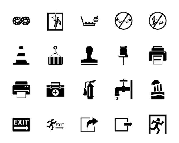 Conjunto de ícones de trabalho