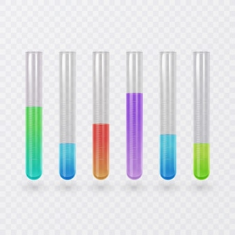 Conjunto de ícones de tubo de ensaio de ciência