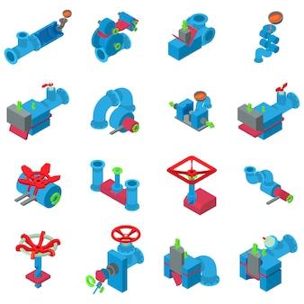 Conjunto de ícones de tubulação