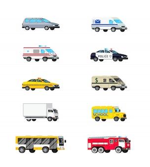 Conjunto de ícones de veículos motorizados