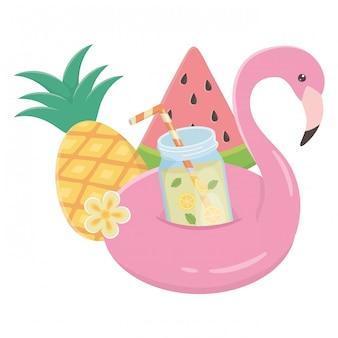 Conjunto de ícones de verão e férias