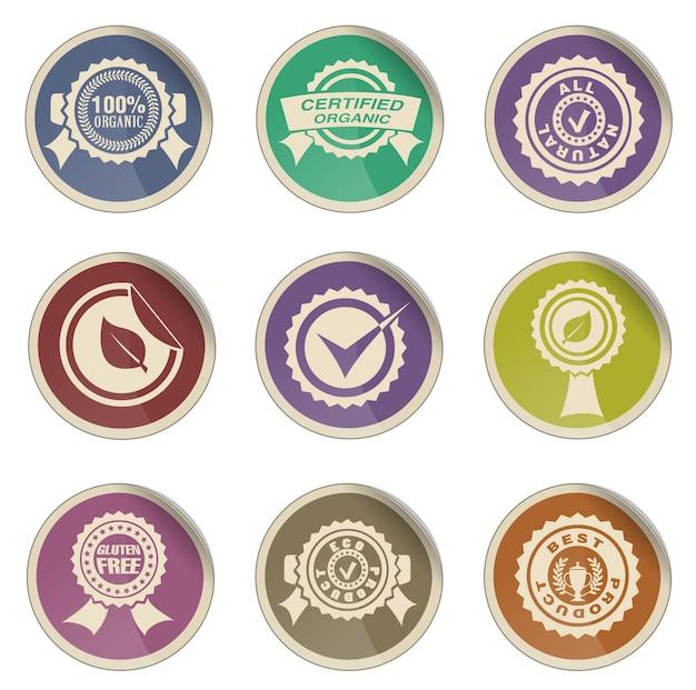 Conjunto de ícones de vetor simples de selos