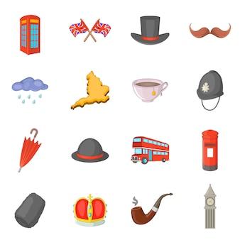 Conjunto de ícones de viagens do reino unido