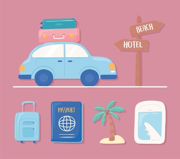 Conjunto de ícones de viagens
