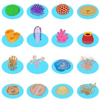 Conjunto de ícones de vida de água