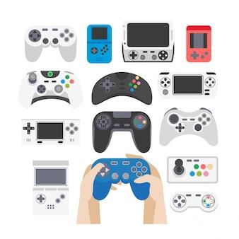 Conjunto de ícones de videogame.